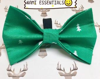 Christmas Tree Dog Bow Tie