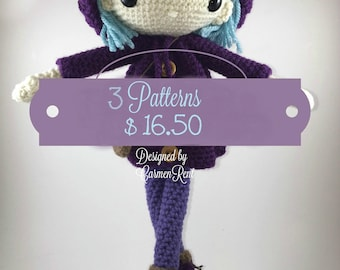 Amigurumi Bundle - 3 patterns- Amigurumi Dolls Pattern