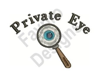 Private Eye - Machine Embroidery Design
