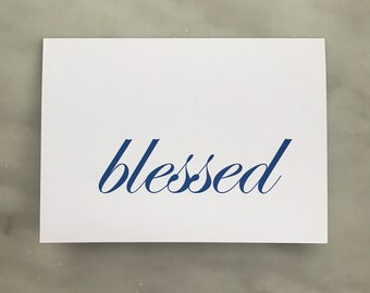 Blessed Note Card - Ever So Pretty Paperie