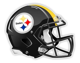 Pittsburgh Steelers Football Helmet Decal / Sticker Die cut