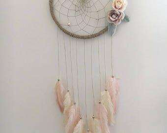 """10"""" Boho Floral Dream Catcher"""
