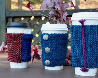 Knitted Coffee Cup Sleeves