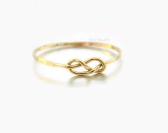 Double Infinity Ring, Infinity Ring, Infinity Jewelry, Stacked Ring, Gold Infinity Ring, Knot Ring, Friendship Ring