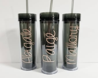 Personalized Bridesmaid Gift, Skinny Personalized Tumbler, Bachelorette Party, Personalized Cup, Custom Tumbler, Wedding Party Tumbler