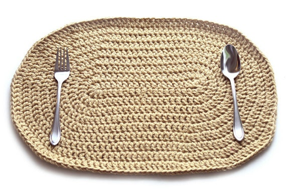 Double Stranded Oval Placemat Pdf Crochet Pattern Instant