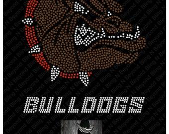 Bulldogs  Rhinestone Bling Shirt