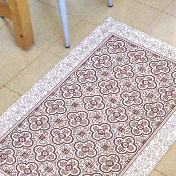 Pink Kitchen Mat Vinyl Floor Mat Linoleum Rug With Hand