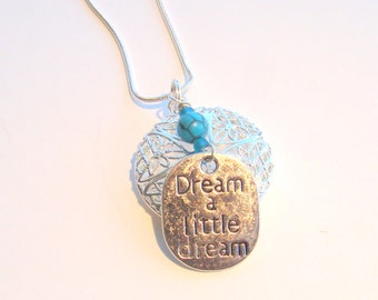 Dream a Little Dream Essential Oil Diffuser Necklace, Aromatherapy Necklace