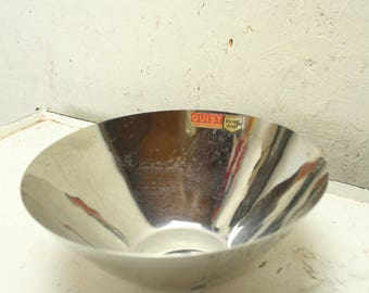 Three vintage stainless steel bowls by Quist