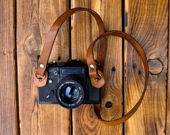 Leather Camera Strap, Leather SLR DSLR Camera Strap, Photographer Gift, Leather Camera, Nikon Camera Strap