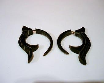 Horn earrings.