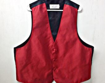 Mens RED FORMAL TEXTURED Suit Vest,prom,wedding,disco