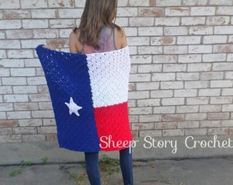 Texas State Flag Blanket