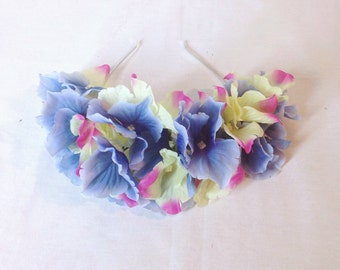Big Blue, Yellow And Fuschia Flower Crown