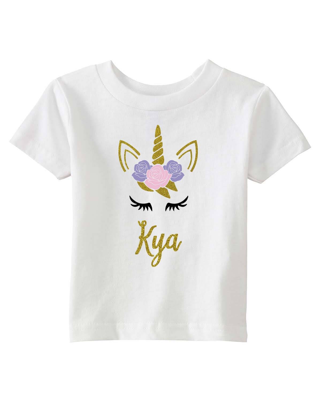unicorn shirt girls unicorn tshirt unicorn birthday shirt. Black Bedroom Furniture Sets. Home Design Ideas