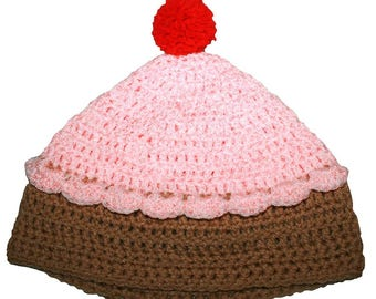 Hand Crocheted Cupcake Hat HH 057