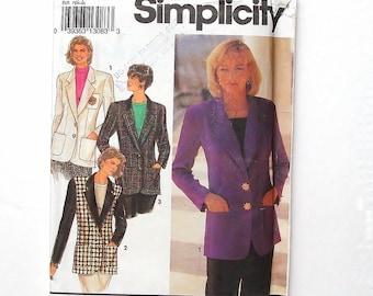 Simplicity Misses' Lined Blazer Pattern #8036 - UNCUT - Size 6+8+10