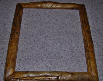 Rustic Log Picture Frame-Figured Lodgepole Pine