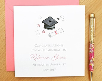 Personalised Graduation Card - Graduation Cards - On your graduation card - Graduation Congratulations Card