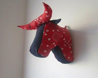 4-Pack Sewing Pattern PDF, Animal Heads, Bull, Bunny, Elephant, Moose