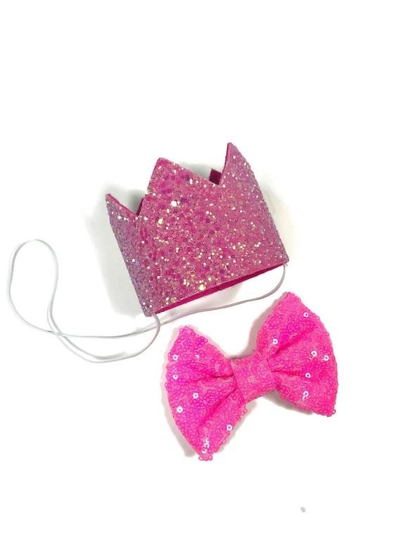 Dog Birthday Hat | Dog Birthday | Pet Birthday Crown | Dog Lover Gift | Birthday for Dogs | Pet Cat Pig Birthday Party Hat | Hot Pink