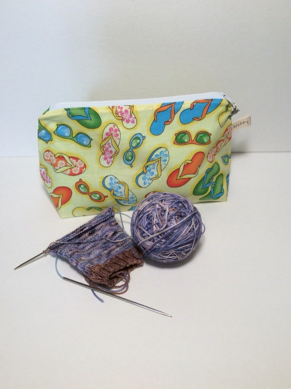 zippered project bag, knitting bag, knitting, yarn bag, yarn tote, yarn, crochet bag, project bag, bag