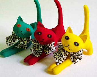 Pattern Soft Toy Cat, Toy Pattern and Tutorial PDF, DIY Toy Pattern, Soft toy sewing pattern, Doll Cat soft toy Pattern, Cat Pattern