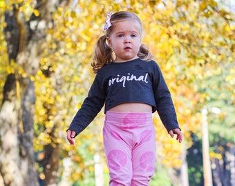 Pink Trees Harem Pants, Baby and Kids Harem Pant Leggings, Grow Wild, Tree Hugger Yoga Pants