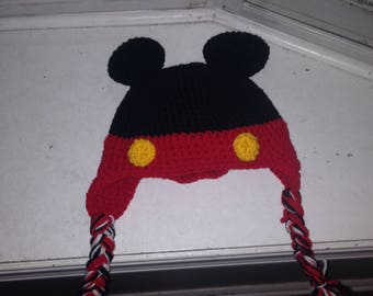 Crocheted Mickey Beanie