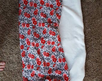 Thermal Black and Red Peony fleece lined Baby Carrier Cover