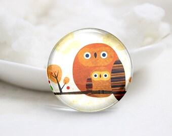 10mm 12mm 14mm 16mm 18mm 20mm 25mm 30mm Handmade Round  Photo Glass Cabochon Dome Owl Image Glass Cabochon    (P2542)