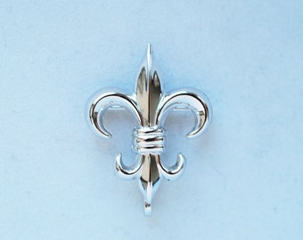 sterling silver fleur de lis brooch/pin, Fun, unique Parisian Charm