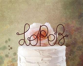 Personalized NAME Wedding Cake Topper, Name Wedding Cake Topper, Wedding Cake Decoration, Wedding Centerpiece, Rustic Wedding Cake Decor