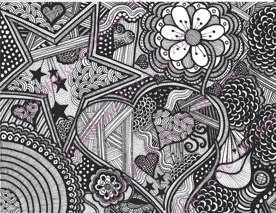 Colouring Pages Pdf For Adults : Diy coloring page instant pdf digital download adult