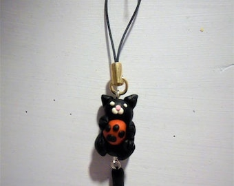 portable cat polymer clay jewelry