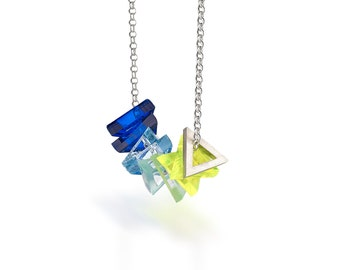 Silver Interchangeable Perspex Necklace : BOB Collection