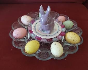 Purple Bunny Deviled Egg Plate