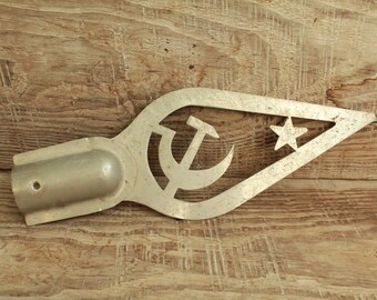 Vintage Collectibles Soviet Symbol Hammer and Sickle / Communism Simbol / Metal Flag Pole Final / Flag Topper / Soviet Union / USSR / СССР