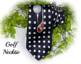 golf tie , golf necktie , gift for golfers  - Polyester necktie , Novelty tie , sport tie ,  # T 13