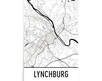 Lynchburg College Map Print