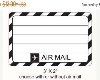 May Sale Air Mail Mailing Label Rubber Stamp 262