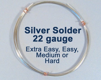 Silver Solder - East, Medium or Hard - Choose Your Length