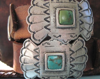 Two Sundance Leather Turquoise Stone Cuff Bracelets FREE NEXTDAY SHIPPING