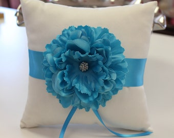 Ring Bearer Pillow with Flower/ Wedding Pillow