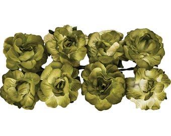 "Scrap Berry's Paper Flowers  - .75"" - 8 Pkg."