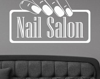 Nail Salon Logo Wall Decal Vinyl Window Sticker Manicure Fashion Art Decorations for Office Spa Beauty Hair Salon Room Decor nsl1