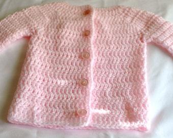 Crochet Baby Sweater 0-3 Months