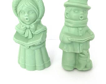 Vintage Avon Christmas Carollers, Two Special Occasion Fragranced Soap - Original Box