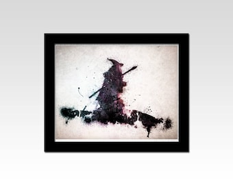 Lord of the Rings inspired Gandalf watercolour effect print